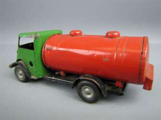 Vintage TRI ANG MINIC TOYS Wind Up Tin Toy Tanker Truck