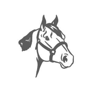 Quarter Horse Large 10 Tall DARK GREY vinyl window decal