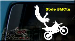 MOTOCROSS JUMPER VINYL DECAL STICKER DIRT BIKE TRAILER