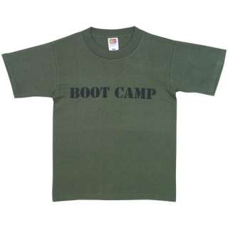 Olive Drab IMPRINTED BOOT CAMP KIDS T SHIRT   SS Short Sleeve Tee, USA