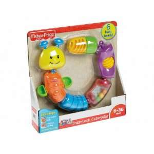 Fisher Price Brilliant Basics Snap Lock Caterpillar Toys