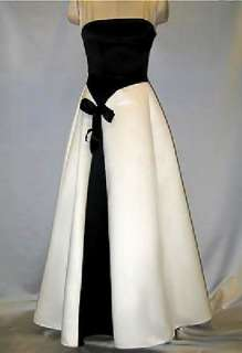 NWT Jessica McClintock Black Ivory Formal Gown Dress 6