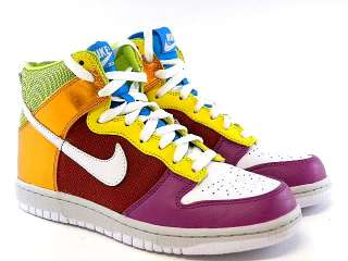 Nike Dunk High Rainbow/Gold/Pink/Red/Green Hi Top Sneakers Women/Men