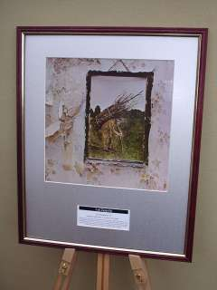 LED ZEPPELIN IV FRAMED ALBUM COVER SLEEVE ARTWORK
