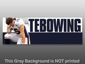Colors Bumper Sticker  decal tim tebow pray praying christian 15