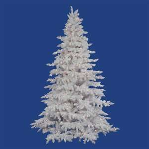 Vickerman Flocked White Spruce Full Pre lit Tree Clear Incandescent