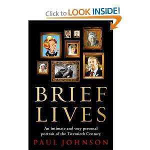 Brief Lives [Hardcover] Paul Johnson Books