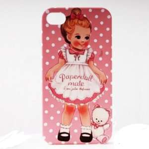 Pink Dot Bear Painting Vintage Pinup Girl iPhone 4/4S