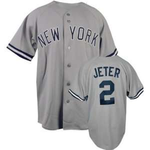 MLB Road Grey Replica New York Yankees Jersey