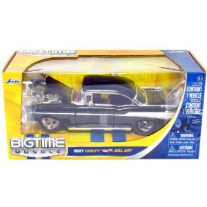 Jada 1957 Chevy Bel Air Bigtime Muscle 1/24 Scale (Black) Toys