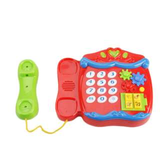 cute cartoon musical telephone baby toddler toy features 1 new and