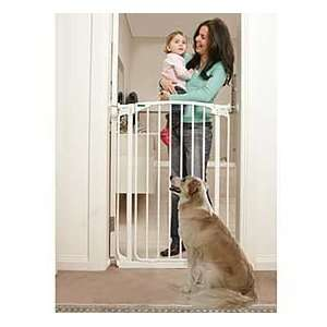 Tall Walk Through, Self Closing Dog and Pet Security Gate, White Pet