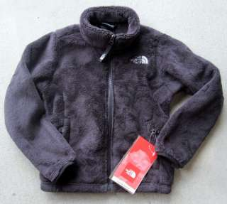 New NORTH FACE Osolita Fuzzy Fleece Jacket Girls Black White Ivory XS