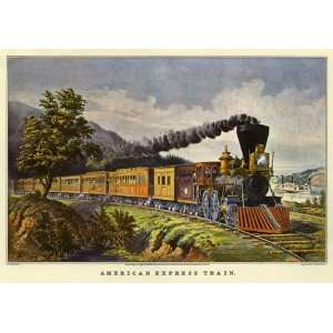 American Express Train Wooden Jigsaw Puzzle Toys & Games