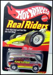 HOT WHEELS 2005 REAL RIDERS FLYING CUSTOMS 70s VAN MOMC