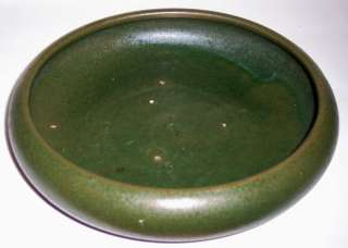 BAUER POTTERY EARLY RED CLAY MATTE GREEN ART BOWL