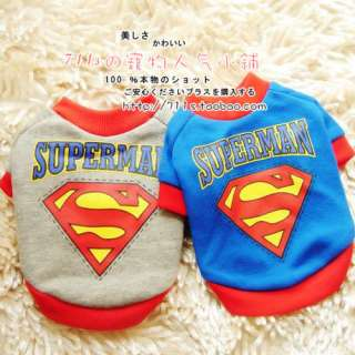 Spiderman and Superman Dog/Pet Costume Apparel T Shirt