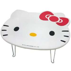 Cute Hello Kitty Face White Children Folding Table
