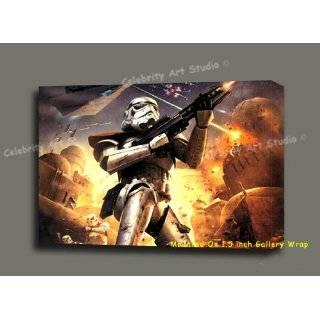 STAR WARS Battlefront Storm Troopers CANVAS ARTWORK MOUNTED W 1.5