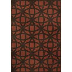 Miramar Rust/Brown Geometric Area Rug (710 x 100)