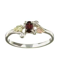 Black Hills Gold Silver January Birthstone Ring