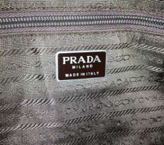 VINTAGE AUTH PRADA BROWN CHOC PATENT LEATHER BOWLER BAG