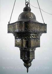 Antique Moroccan Style Art Large Hanging Lamp/Lantern
