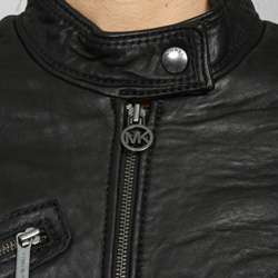 MICHAEL Michael Kors Womens Leather Motorcross Jacket