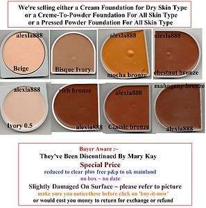 Mary Kay Creme To Powder Foundation / Cream Formula 1 Dry Skin