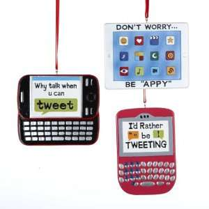 Club Pack of 12 Tween Christmas Social Network Phone
