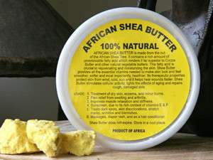 100% Natural Organic RAW UNREFINED SHEA BUTTER 8oz or 1/2 pound NEW
