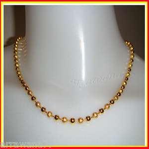 22K 23K 24K THAI BAHT YELLOW GP GOLD 18 inch NECKLACE Jewelry