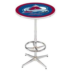 36 Colorado Avalanche Counter Height Pub Table   Chrome