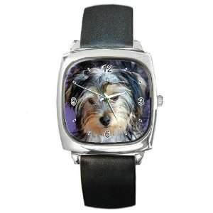 Yorkshire Terrier Puppy Dog 3 Square Metal Watch FF0654