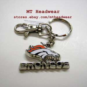 OFFICIAL LICENSED NFL ***DENVER BRONCOS*** METAL KEYCHAIN KEYRING