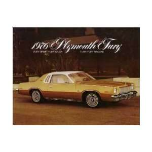 1976 PLYMOUTH FURY Sales Brochure Literature Book