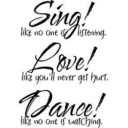 Vinyl Attraction SingLoveDance Vinyl Decal
