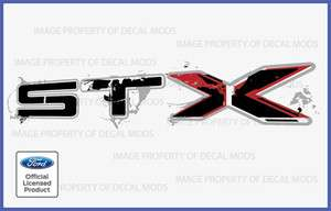 STX Decals Stickers Set   F Truck Bed Side Full Color Off Road