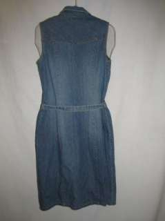 Jeans Company Black Label Blue Denim Sleeveless Dress Womens 2