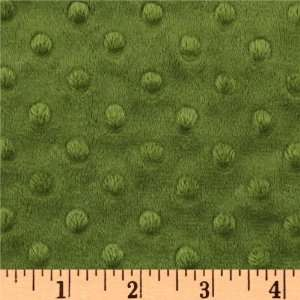 60 Wide Oh So Soft Minky Embossed Dot Olive Fabric By