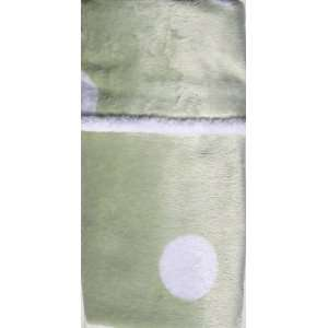 Maddie Mae Minky Collection, Green with Large White Dots Minky Smooth