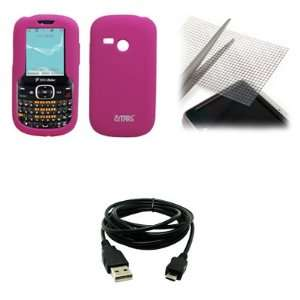 EMPIRE Hot Pink Silicone Skin Case Cover + Universal Screen Protector