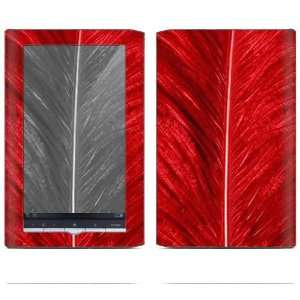 Sony Reader PRS 950 Decal Sticker Skin   Red Feather
