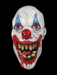 DEMON Killer Clown Scary Soft Rubber Latex Costume MASK