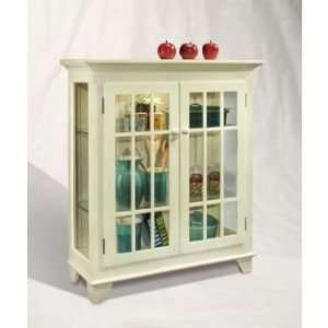 Color Time Barlow 2 Door Display Console Shell White