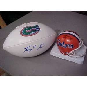Tebow Hand Signed Autographed Florida Gators NCAA Full Size Football