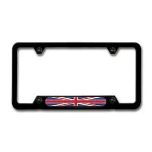 MINI Cooper Black License Plate Frame Union Jack