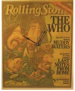 The Who Pete Townshend Rolling Stone Cover Clock 1978