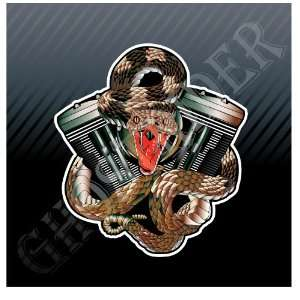 Motor Cylinders Snake Racing Power Motorcycle Bikes Car Trucks Sticker