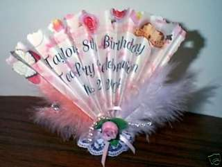 Birthday ,Wedding, Baby Shower Fan Folded Party Favors